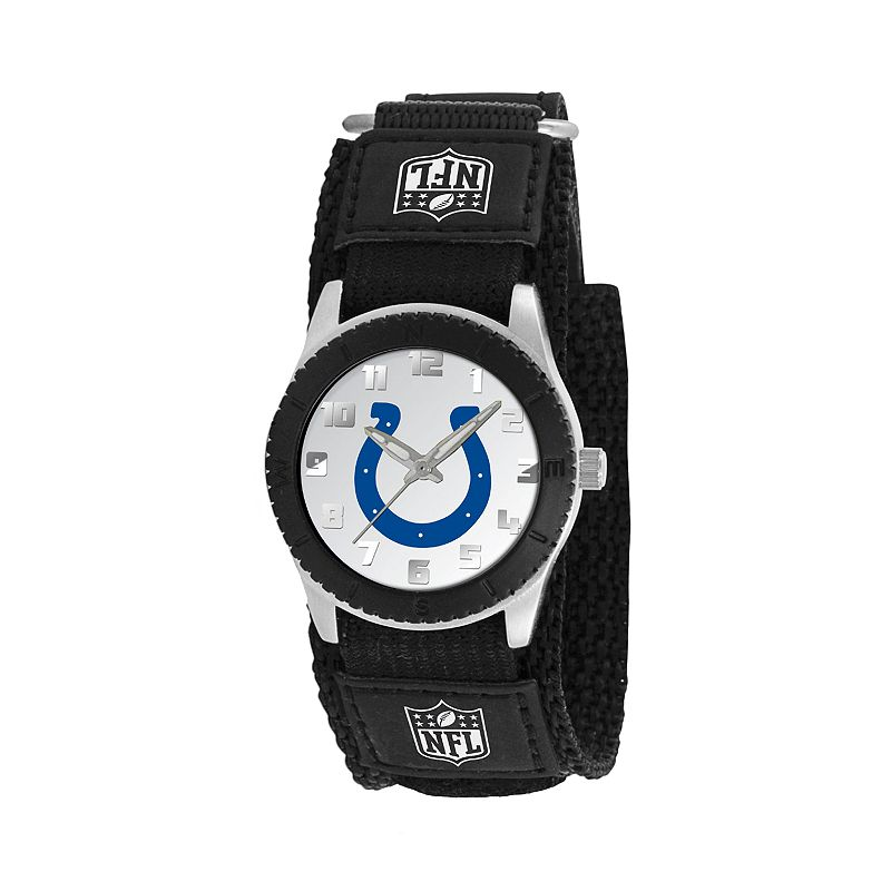 Game Time Rookie Series Indianapolis Colts Silver Tone Watch - NFL-ROB-IND