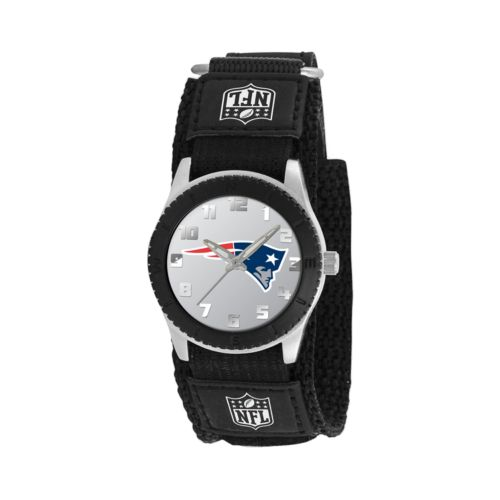Game Time Rookie Series New England Patriots Silver Tone Watch - NFL-ROB-NE - Kids