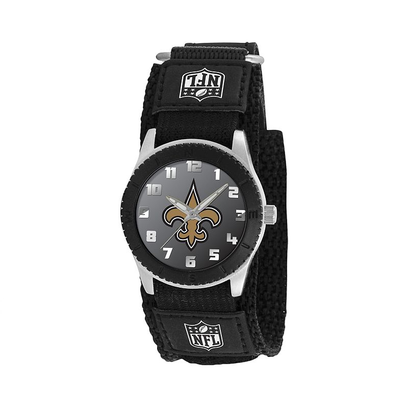 Game Time Rookie Series New Orleans Saints Silver Tone Watch - NFL-ROB-NO - Kids