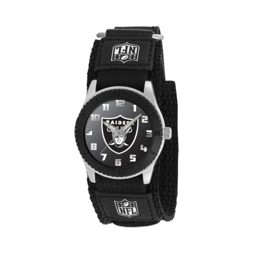 Game Time Rookie Series Oakland Raiders Silver Tone Watch - NFL-ROB-OAK - Kids