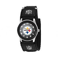 Game Time Rookie Series Pittsburgh Steelers Silver Tone Watch - NFL-ROB-PIT - Kids