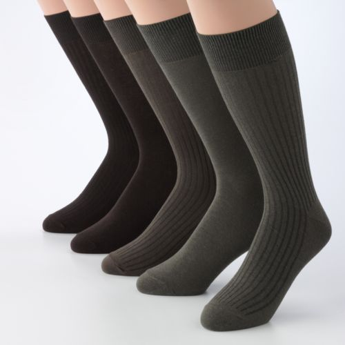 Croft & Barrow® 5-pk. Ribbed Dress Socks