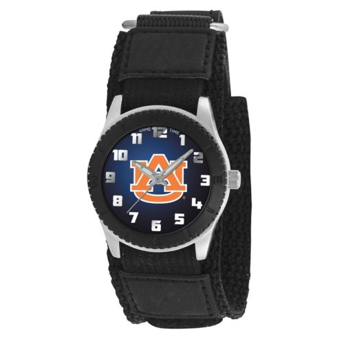 Game Time Rookie Series Auburn Tigers Silver Tone Watch - COL-ROB-AUB
