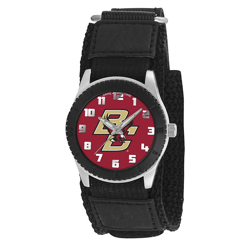 Game Time Rookie Series Boston College Eagles Silver Tone Watch - COL-ROB-BC