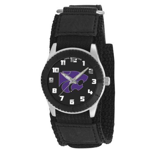 Game Time Rookie Series Kansas State Wildcats Silver Tone Watch - COL-ROB-KSU