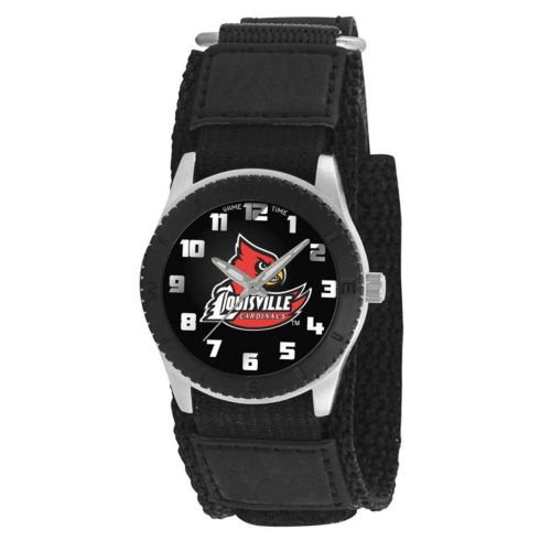 Game Time Rookie Series Louisville Cardinals Silver Tone Watch - COL-ROB-LOU