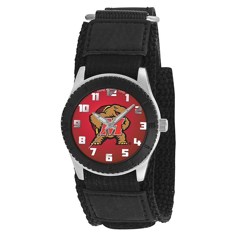 Game Time Rookie Series Maryland Terrapins Silver Tone Watch - COL-ROB-MD - Kids