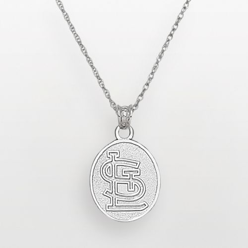 LogoArt St. Louis Cardinals Sterling Silver Logo Pendant