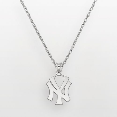 LogoArt New York Yankees Sterling Silver Logo Pendant