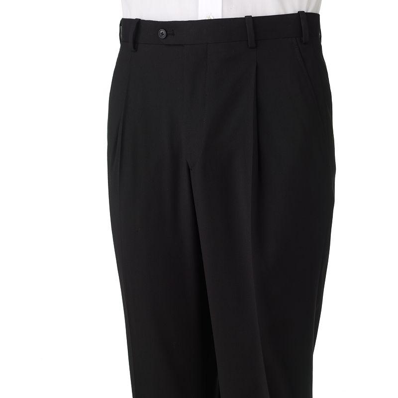 Men's Adolfo Classic-Fit Solid Pleated Black Suit Pants