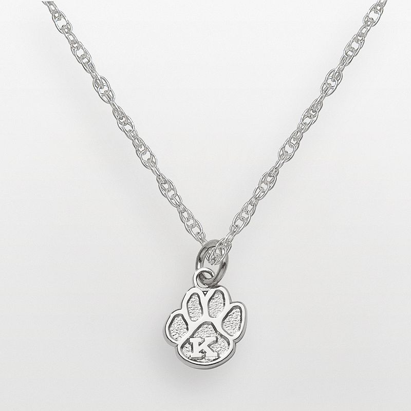 Kentucky Wildcats Sterling Silver Logo Pendant