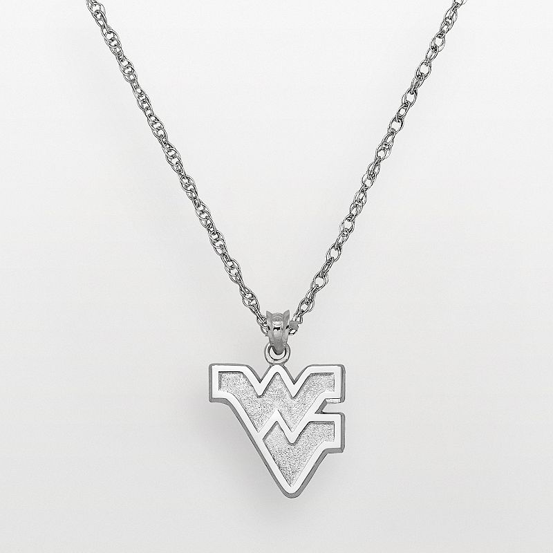 West Virginia Mountaineers Sterling Silver Logo Pendant