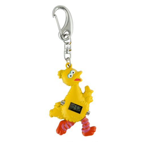 Sesame Street Big Bird Silver Tone Clip-On Digital Watch - SW2501BB - Kids
