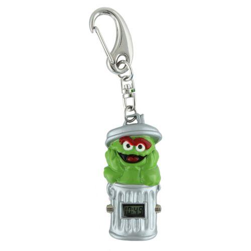 Sesame Street Oscar the Grouch Silver Tone Clip-On Digital Watch - SW2501OS - Kids