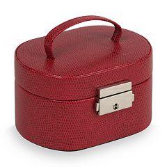 WOLF Heritage Travel Mini Oval Jewelry Box