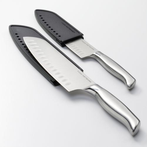 Food Network™ Great Value 2-pc. Stainless Steel Knife Santoku Set