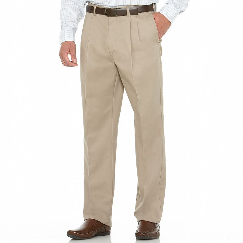 Men's Savane Performance Straight-Fit Pleated Pants