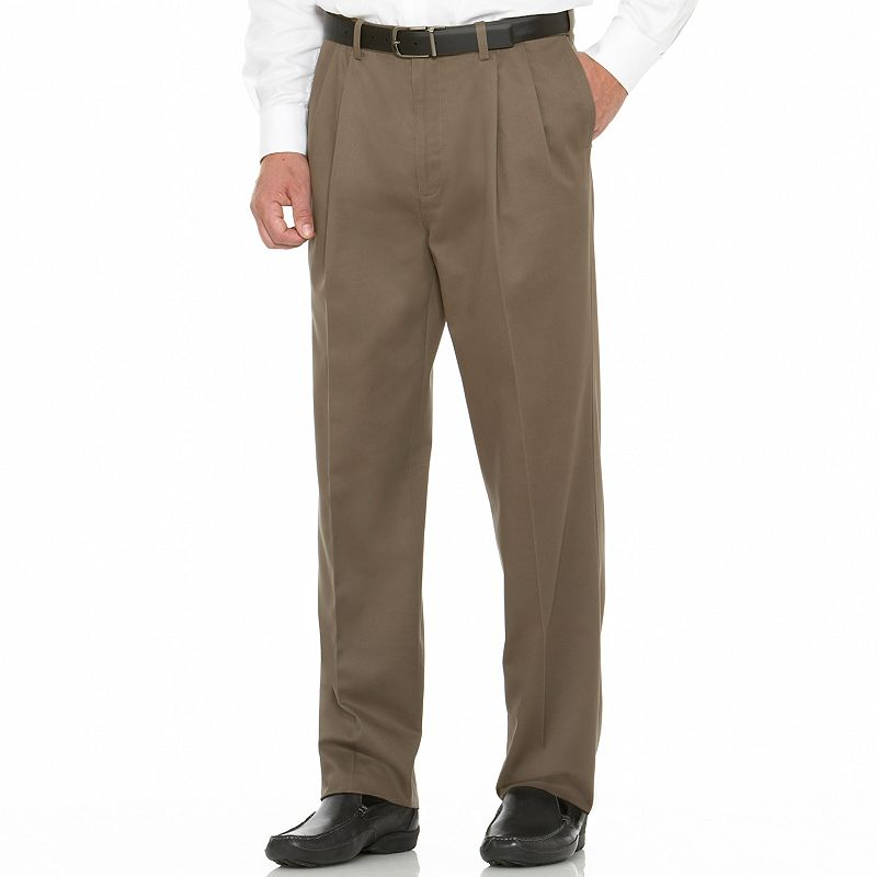 Men's Savane Performance Straight-Fit Pleated Pants