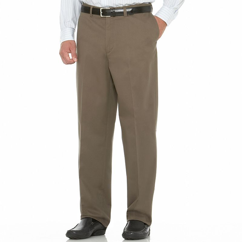 Men's Savane Performance Straight-Fit Flat-Front Pants