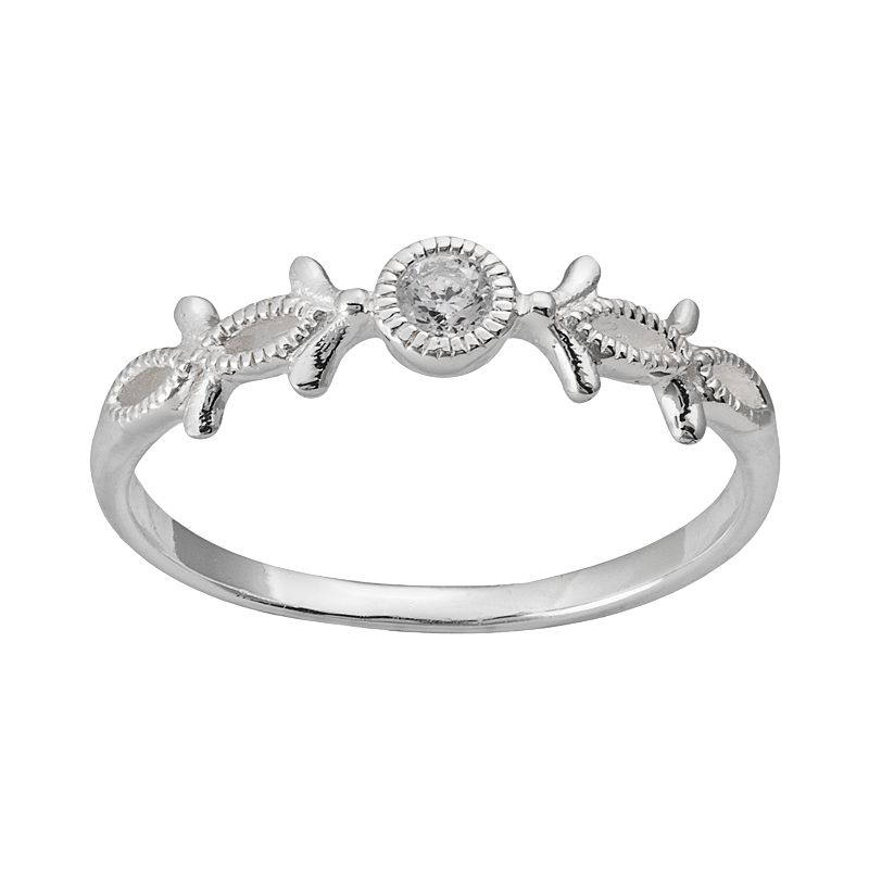 Sterling Silver Cubic Zirconia Vine Ring