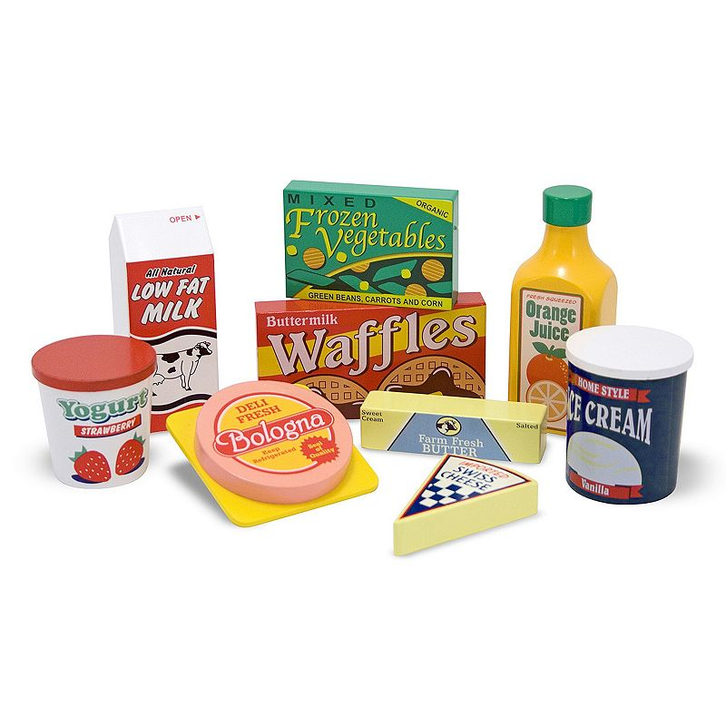 Melissa and Doug Wooden Fridge Food 8-pc. Set