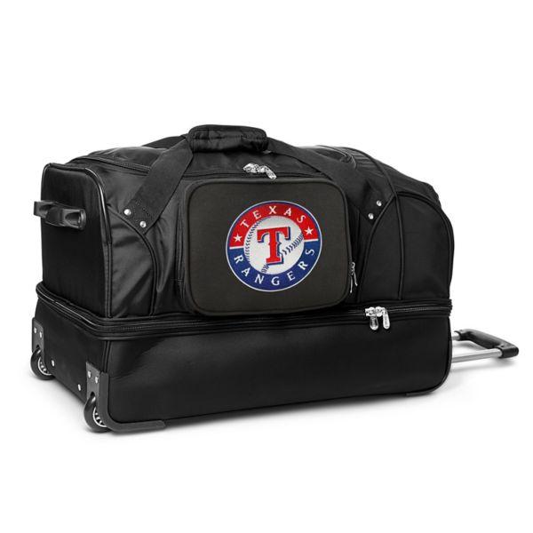 Texas Rangers 27-in. Wheeled Drop-Bottom Duffel Bag