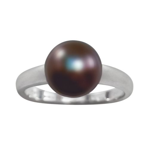 Sterling Silver Peacock Dyed Freshwater Cultured Pearl Ring