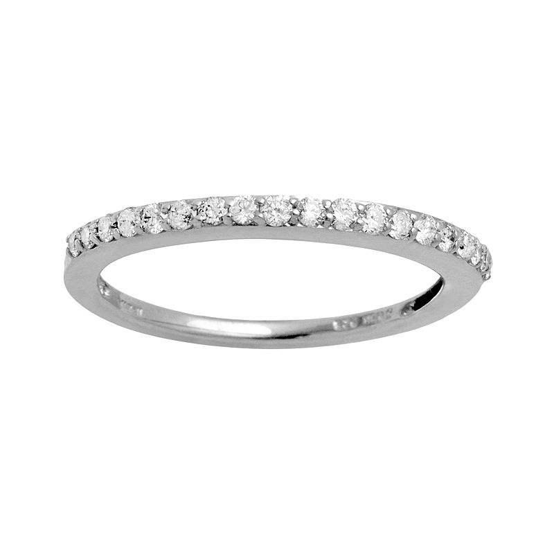 Sterling Silver 1/4-ct. T.W. Diamond Ring