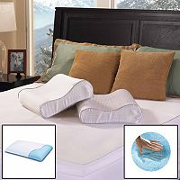 ComforPedic Beautyrest Gel Memory Foam Contour Pillow - Standard