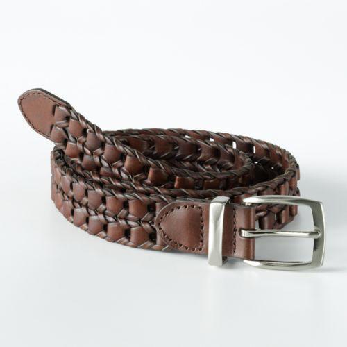 Haggar® Braided Leather Belt