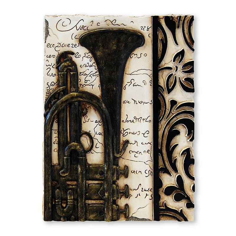 New view gifts accessories trumpet wall decor for Decor questions