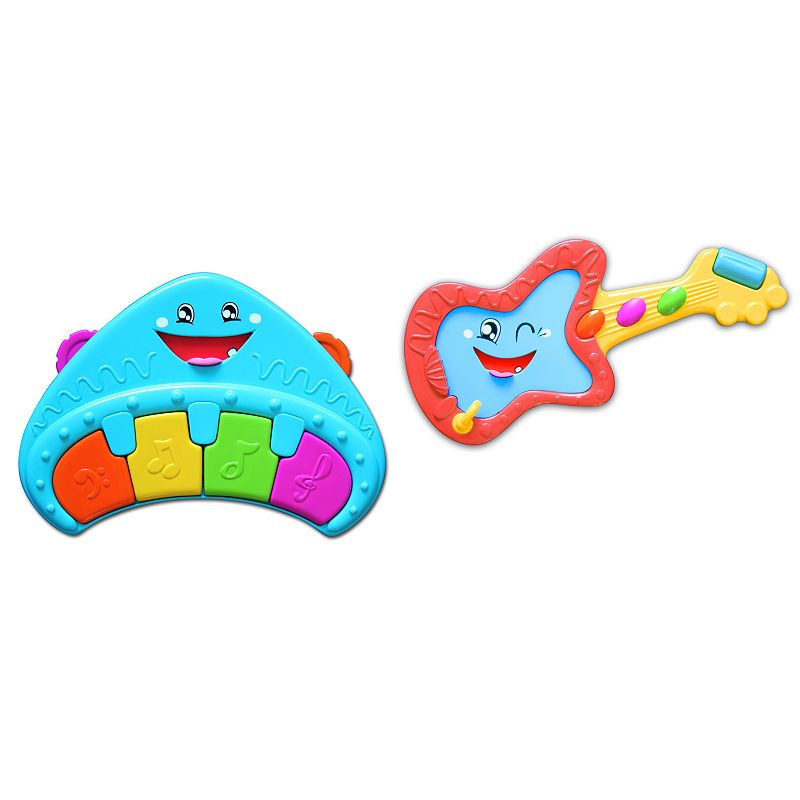 Kidz Delight Rocky Ricky Guitar and Classey Casey Piano Playset