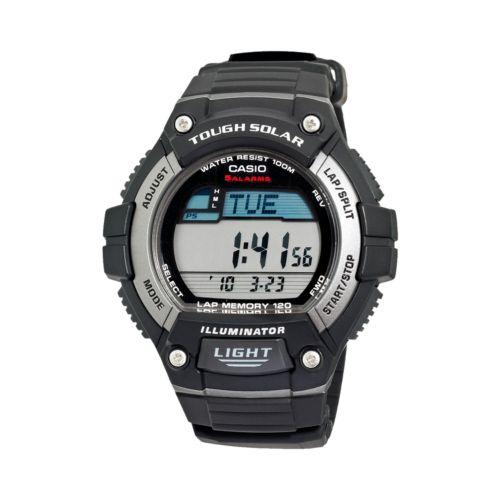 Casio Watch - Men's Classic Tough Solar Black Resin Digital Chronograph
