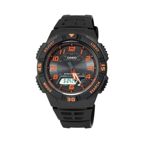 Casio Watch - Men's Sport Tough Solar Black Resin Analog and Digital Chronograph