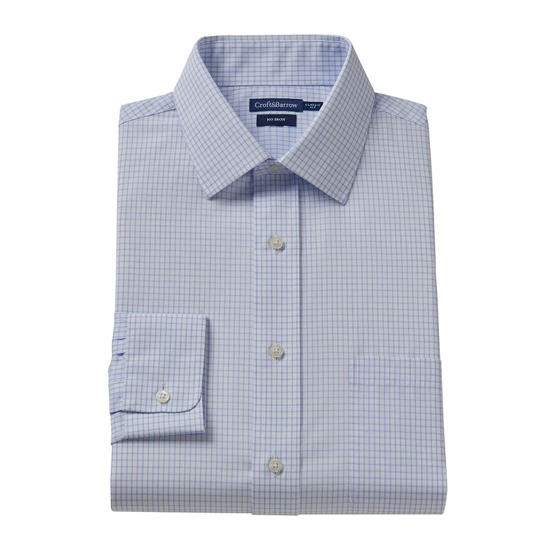 Men's Croft & Barrow® Classic-Fit No-Iron Striped Dress Shirt