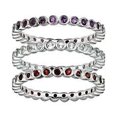 Stacks & Stones Gemstone Sterling Silver Stack Ring by