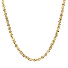 Everlasting Gold 14k Gold Rope Chain Necklace by