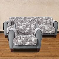 Sure Fit Faux Fur Reversible Furniture Cover Collection
