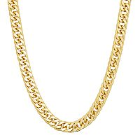 Men's 14k Gold Over Silver Curb Chain Necklace
