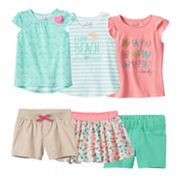 Toddler Girl Jumping Beans® Coral & Mint Mix & Match Outfits