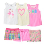 Toddler Girl Jumping Beans® Pink & Yellow Mix & Match Outfits