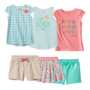 Girls 4-7 Jumping Beans® Turquoise & Coral Mix & Match Outfits