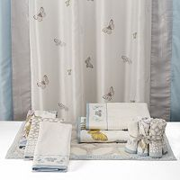 One Home Brand Enchanted Garden Embroidered Shower Curtain Collection