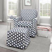 Storkcraft Polka-Dot Upholstered Nursery Furniture Coordinates