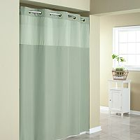 Mystery Hookless Fabric Shower Curtain Collection