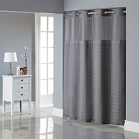 Hookless Square Tile Jacquard Lined Shower Curtain Collection