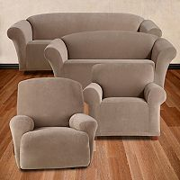 Sure Fit Stretch Pixel Corduroy Furniture Cover Collection