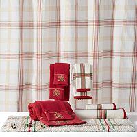 Lenox Holiday Nouveau Plaid Shower Curtain Collection
