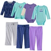 Baby Girl Jumping Beans® Fall Blue Mix & Match Outfits