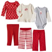 Baby Girl Jumping Beans® Fall Red Mix & Match Outfits